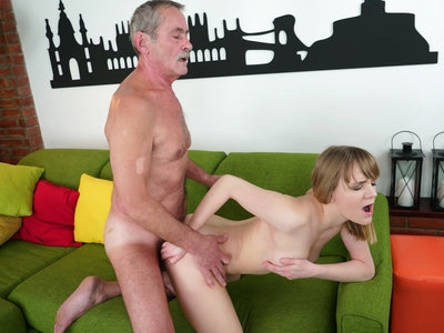 Teen Lucette Nice has sex with horny old man Mark Magnum