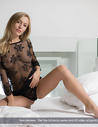 Vika lights up the screen in this super erotic solo show. She starts in a silky, sexy lace outfit, her voluminous tits peeking thru the sheer black nylon of her shirt. Her black thong panties come off quickly, and she's soon got the wonder wand in her hand, bent over and stimulating her puffy, shaved, gorgeous pussy. With one finger up her snatch and the buzzing head on her clit, Vika moans and purrs with delight. Opening her lips, we're given a fine show of her secret pink moisture. Sweat beading on her face, she kicks back on the pillows, spreads her legs wide, and delivers the orgasm we've all been waiting for. What a beautiful, hot young lady this is, and you really get to know ALL of her in this amazing pussy loving film.