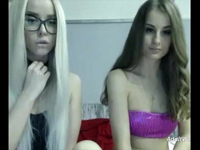 Two tight lesbians lick and masturbate each other - AdultWebShows.com