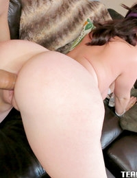 Ryan Smiles pulls out her flawless big tits in the middle of her workout to get rammed doggystyle.