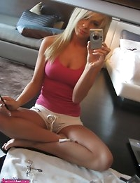 Kayce wakes up in the morning and takes some sexy self pics during our Vegas shoot