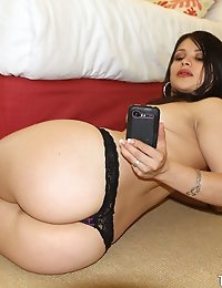 Horny thick brunette bends her round ass over and gets fucked in a home made sex tape