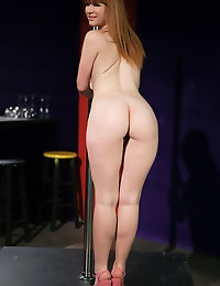 Claire Robbins spins her hot naked body around a dance pole.