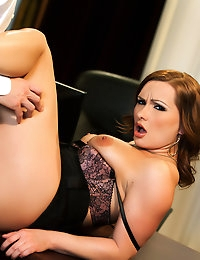 Katja Kassin is the perfect secretary for Richie Calhoun she loves taking anal dick-tation.