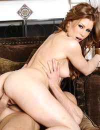 Brooklyn Lee goes golfing with her boyfriends son's clubs but really uses his cock to ride and be fucked by.