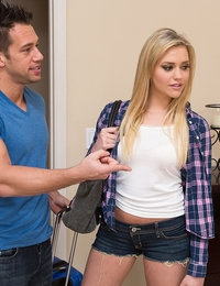 Gorgeous blonde Mia Malkova has hot sex with her friends brother and his big cock.