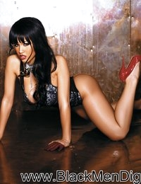 Spicy Latina Rosa Acosta in a red-hot lingerie layout.