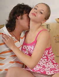 Naughty teen was seduced for nice fucking on camera. See how her loving holes were banged.
