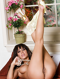 Angelina Valentine shows off her amazing curves and pretty pussy.
