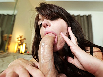 Cock lover eye catching sexy girl Kaisey Dean sucks a big mean dick thoroughly down to her throat and receives a fresh cum load straight into her mouth