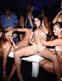 Soon after Riley and Anita had their mouths full of cock and from then on it was a fuck fest in the VIP party as they were rotating the girls around all night