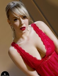 Millie's soft Red lips and Red nightie