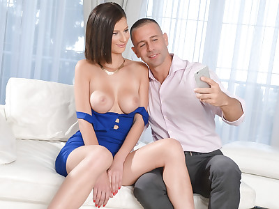 Mimi Lion and Toby take some sexy selfies before fucking.