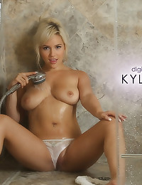 Kylie Page takes a hot shower, but would love for some company
