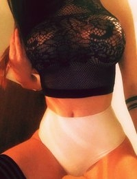 Katherine Knowles takes some sexy selfies in black lace