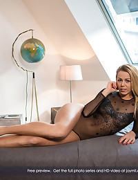 Christen is a fit, limber girl. She loves to do yoga and work out. But today, she has something special in mind. She's put on a see-thru leotard, and she's stretching on the bed, showing Kristof her gorgeous body. Calling him to play. Egging him on. And of course, he's ready for it. Who wouldn't be with the gorgeous Christen so horny and eager for love? It all gets going with Christen getting her bubbly ass sucked, and then she's down on Kristof with her mouth, getting him hot and hard. Soon, Christen is naked riding Kristof's shaft, and the two start into every position in the book, cumming together in a mutual ecstasy. This is real, serious love-making, all there for you to share.