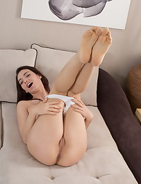 Hot brunette toys both her pussy and ass photo #5