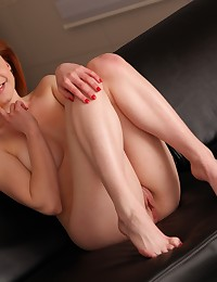 Stunning redhead toys her pussy with sex toys photo #16