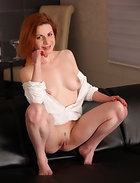 Stunning redhead toys her pussy with sex toys photo #6