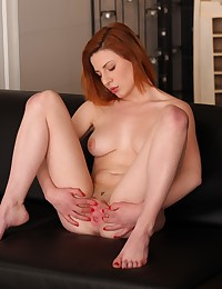 Stunning redhead toys her pussy with sex toys photo #7