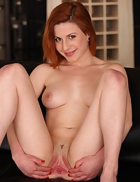 Stunning redhead toys her pussy with sex toys photo #8