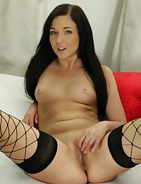 Foxy Anne toys both of her holes with vibrator photo #5