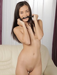 Petite brunette uses sex toys on her pussy photo #5