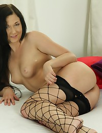 Foxy Anne toys both of her holes with vibrator photo #6