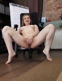 Dirty bitch fucks her asshole with a huge dildo photo #7