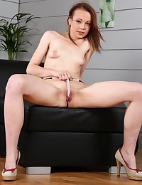 Hot and sticky Rebeca teases her pussy hard photo #5