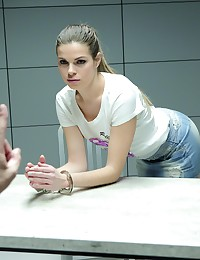 Sexy Blonde is Fucked in an Interrogation Room photo #1