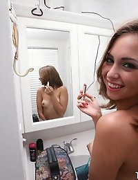 :: Shes New.com presents Riley Reed's Sizzling Video in Bathroom Fun :: photo #9