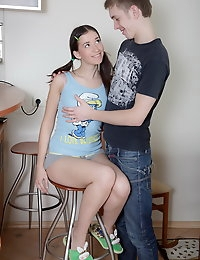 Tight teen pussy with the hot dripping sperm photo #3