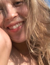 18closeup.com: Kristina Fingering her Pussy Outdoor #Boobs #Pussy #Finger photo #16
